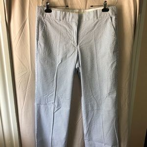 J. Crew Pants - J.Crew Seersucker Pants — Blue/White (Size 12)